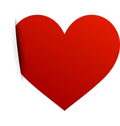 Paper red heart vector image vector image