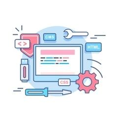 Web programming development concept vector image vector image