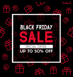 black friday sale banner promotional template vector image