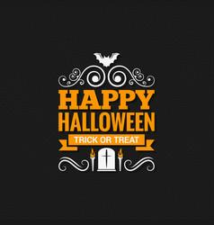 happy halloween vintage design background vector image