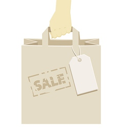 Retail shopping bag stamped as a promotional sale vector image