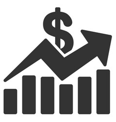 sales bar chart trend icon vector image vector image