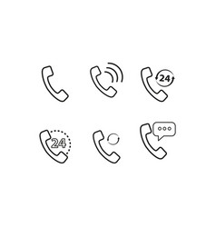 set of handset of icon vector image