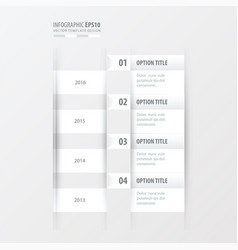 timeline white color vector image vector image