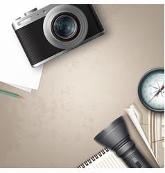 travel still life vector image vector image