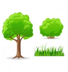 cartoon plants vector image vector image