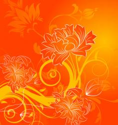 floral abstraction vector image vector image