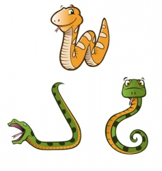 pythons vector image vector image