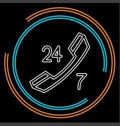 24 7 customer service icon - customer support vector image