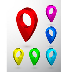 3d map pointer navigator symbol isolated on gray vector image