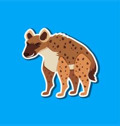 a simple hyena sticker vector image