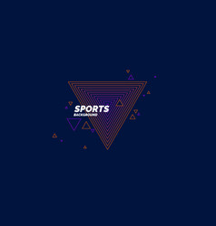 abstract geometric background sports poster with vector image