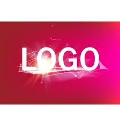 Abstract geometric logo vector image