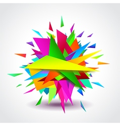 Abstract geometric shapes explosion vector