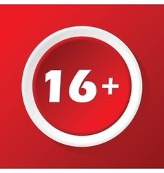 Age restriction icon on red vector