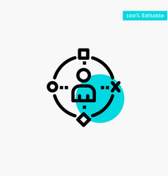 Ambient user technology experience turquoise vector