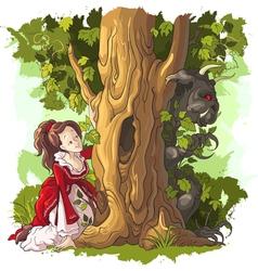 Beauty and the beast fairytale vector