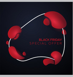 black friday liquid colorful shapes vector image