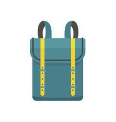 Boy backpack icon flat style vector