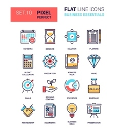 Business Essentials Icons vector image