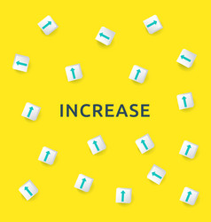 Business increase concept with arrow up symbol vector