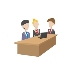 Business negotiations icon cartoon style vector