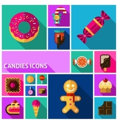 Candy Icons Set vector image