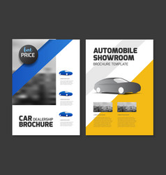 car dealership brochure automobile showroom vector image