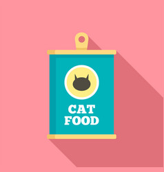 cat food icon flat style vector image