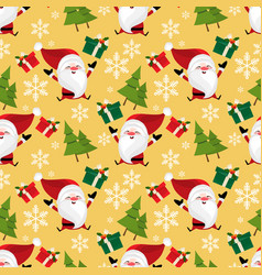 christmas holiday season seamless pattern vector image