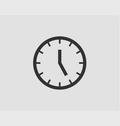 clock icon flat design element watch isolated vector image