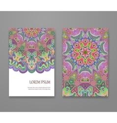 Colorful ornamental ethnic booklet set vector