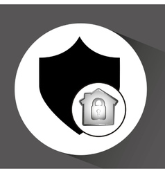Computer data protection shield icon vector