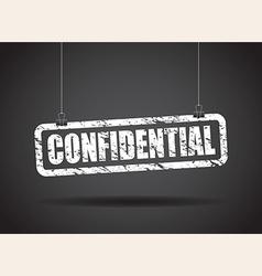 Confidential white vector