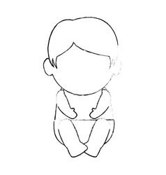 cute baby avatar character vector image