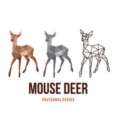 deer low poly design vector image