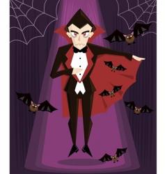 Dracula Halloween vector image vector image
