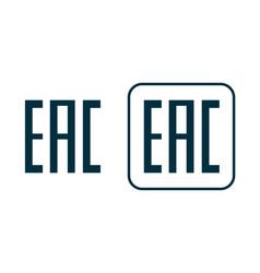 eac logo icon aurasian conformity made symbol vector image