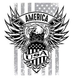 Eagle made in usa united states america usa vector
