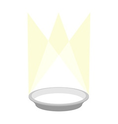 Empty plate podium with lighting Place for a vector image