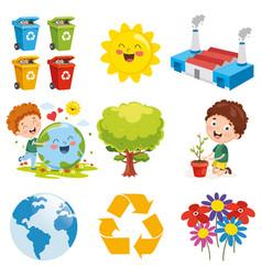 environment elements vector image