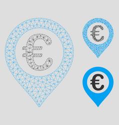 Euro pushpin mesh 2d model and triangle vector