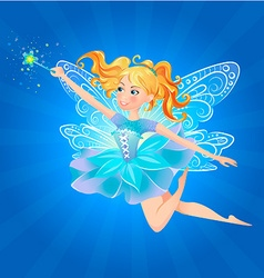 Fairy magic wand lue background vector