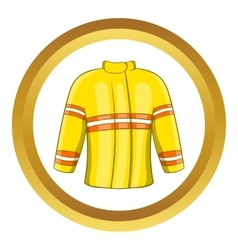 Fire jacket icon vector
