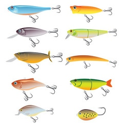 Fishing bait vector