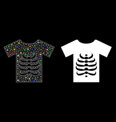 Flare mesh network skeleton t-shirt icon with vector