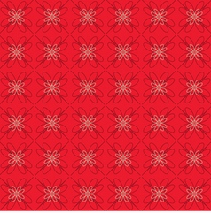 Flowers Graphic On Red Background Pattern vector image