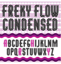 Funky upper case english alphabet letters vector