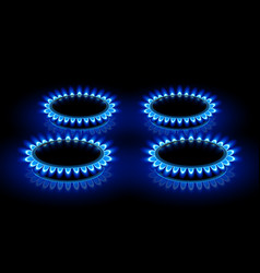 gas ring stoves vector image