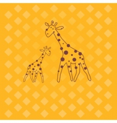 giraffe illustration vector image